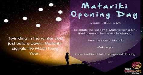 Matariki Opening Day