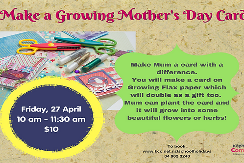 Growing Mother's Day Card Workshop