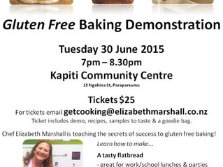 Make sure you book a space in the Gluten Free Baking Demo happening here on Tuesday 30 June!