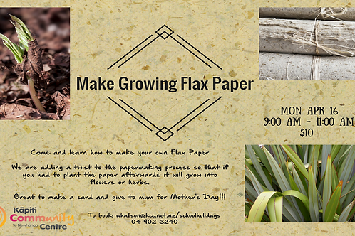 Flax Growing Paper Workshop
