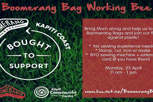 Boomerang Bag Working Bee