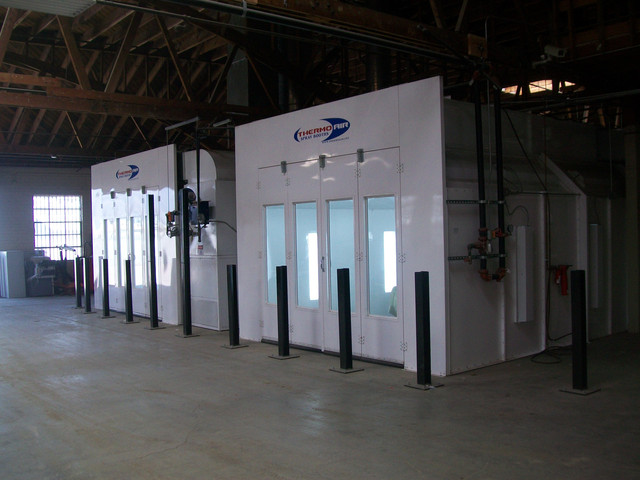 Top of the line spray booths