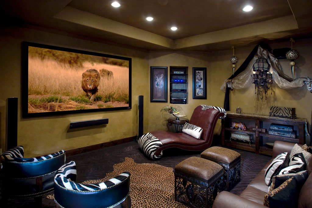 Safari home theater room
