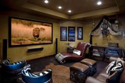 Safari home theater room
