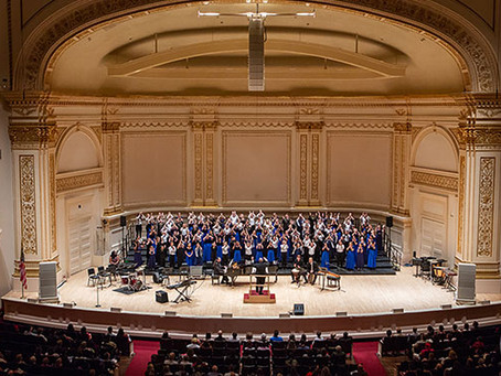 "Campanella Concert Choir sings at the ""Turn the World Around"" Festival at Carnegie Hall"