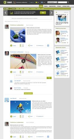 Profile news stream design