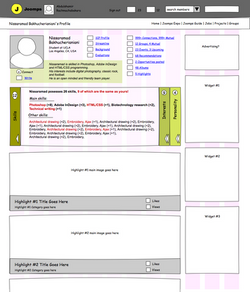 Profile wireframe 2