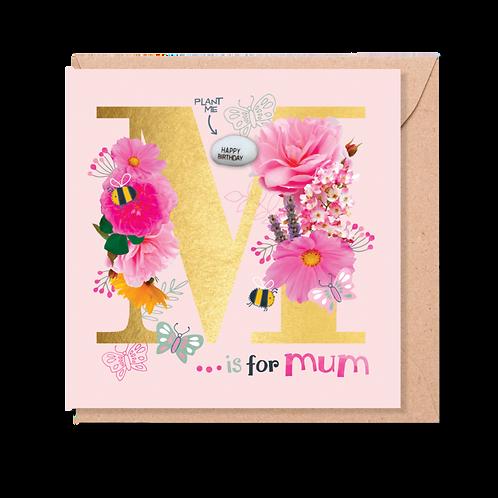 M is for Mum - Magic Bean Card