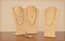 Multi Layered Necklaces 2 linen w-white