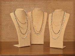 Multi Layered Necklaces linen w- linen