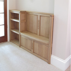 oak bench seat and shoe rack
