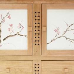cherry tv cabinet