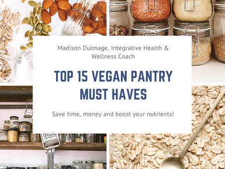 Vegan Pantry Must Haves