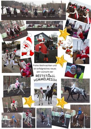 Frohe Weihnachten im Reitstall Himmelreich