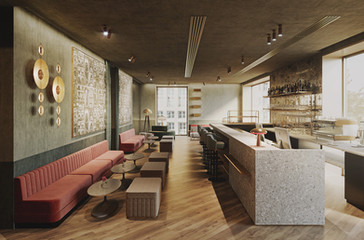 Lobby hotelowe w Monachium