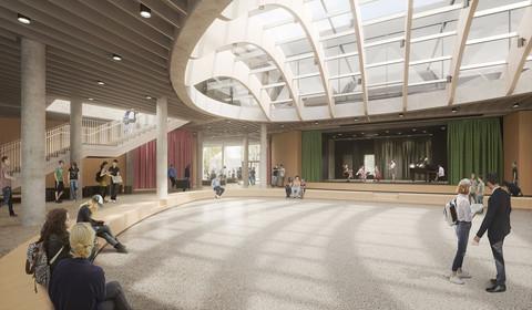 Rozbudowa szkoły w Frankfurcie