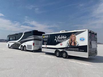 Valerie Thompson Racing Transporter Mobile Marketing