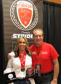 Proud Sponsor who suprised Valerie at Sturgis to collect her Sturgis Hall of Fame 2018