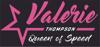 Valerie Thompson Queen of Speed Logo