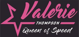 Valerie Thompson Queen of Speed Logo