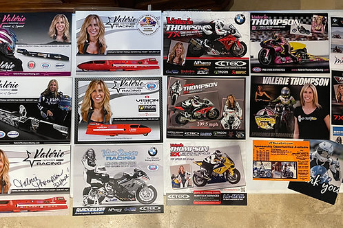 Valerie Thompson Autograph Card Collection of History