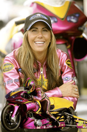 Valerie enters the NHRA Pro Stock Motorcycle Drag Racing Series.JPG