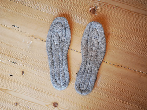 WOOL SOLE with BIRCH-BARK