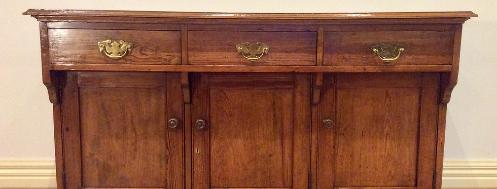 Antique English Red Pine School Laboratory Cabinet. Circa 1900.
