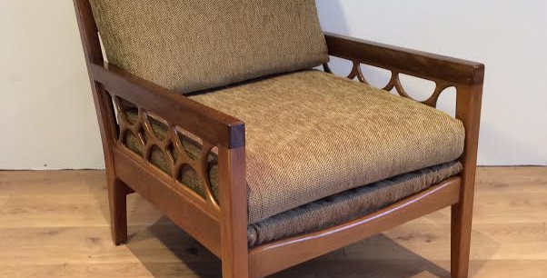 Mid Century Avalon Solid Blackwood Armchair