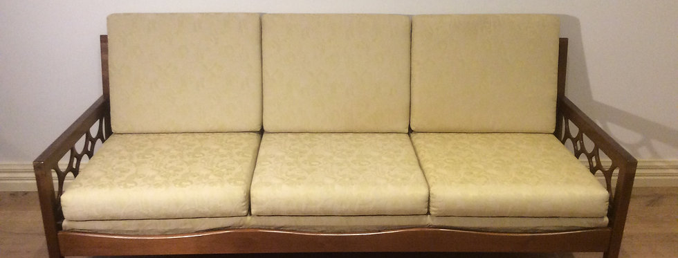 Mid Century Australian Made Avalon Solid Blackwood Sofa.