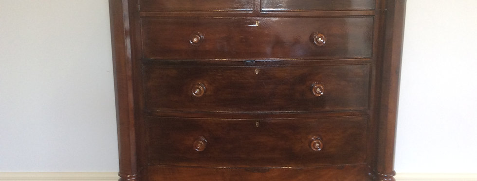 Regency Flame Mahogany Chest of Drawers