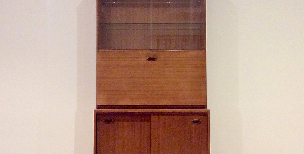Mid Century Teak Wall Unit Drinks Cabinet. Circa 1960.