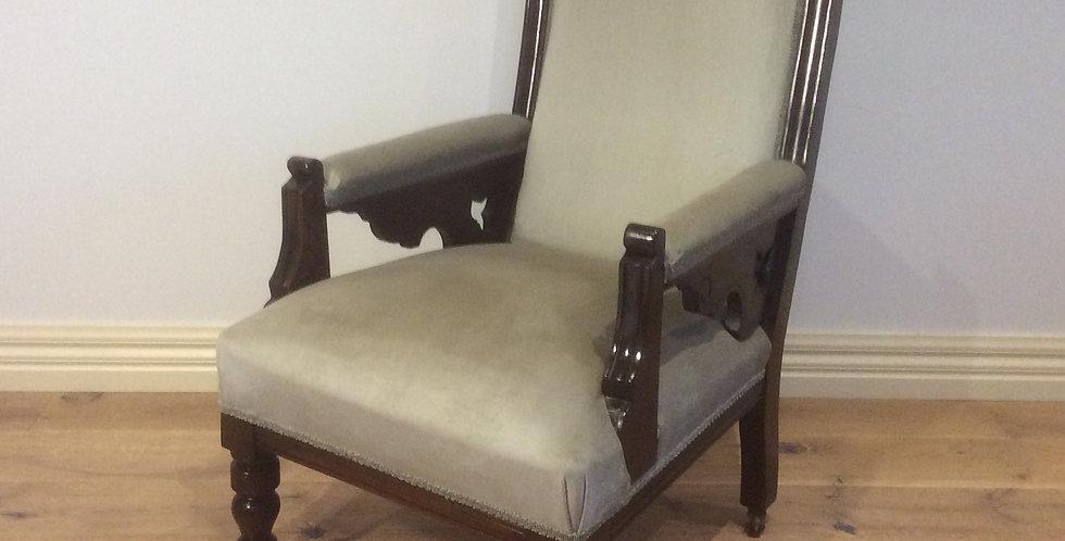 Victorian Mahogany Bedroom Chair. Circa 1900