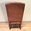 Thumbnail: Ralph Lauren Leather, Solid Mahogany High Back Dining Chair by Henredon.