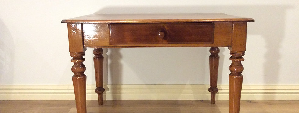 Restored Victorian Pine Single Drawer Table/Desk.