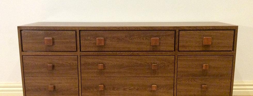 Retro Australian Made Nine Drawer Dresser/Sideboard.
