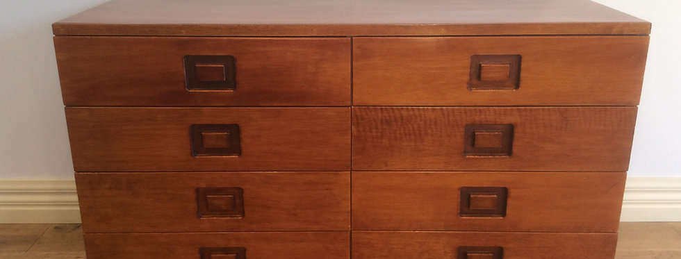 Mid Century Alrob Teak Chest of Drawers