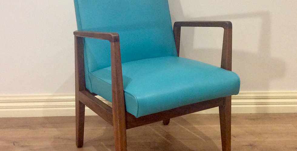 Mid Century Blackwood Armchair with Vinyl Upholstery