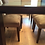 Solid Hardwood Dining Table and Suede Chairs
