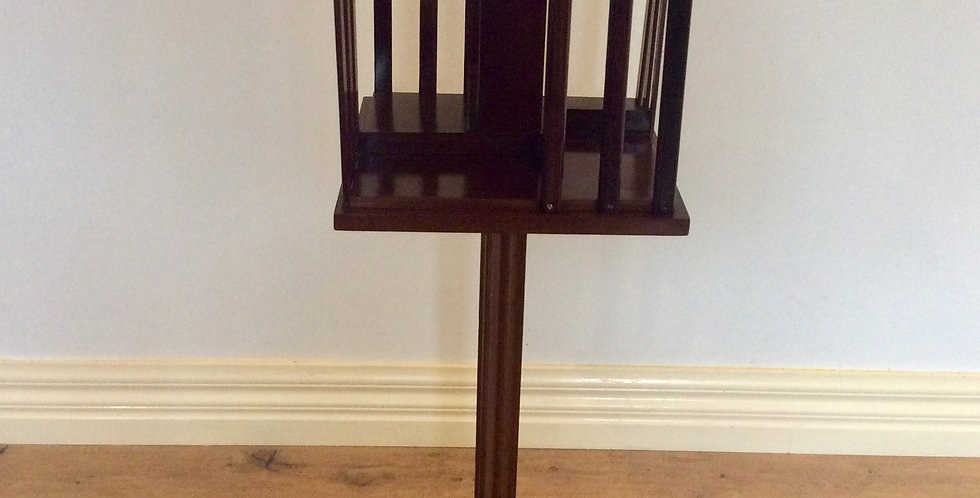 Antique Revolving Book Stand with String Inlay. Circa 1900.