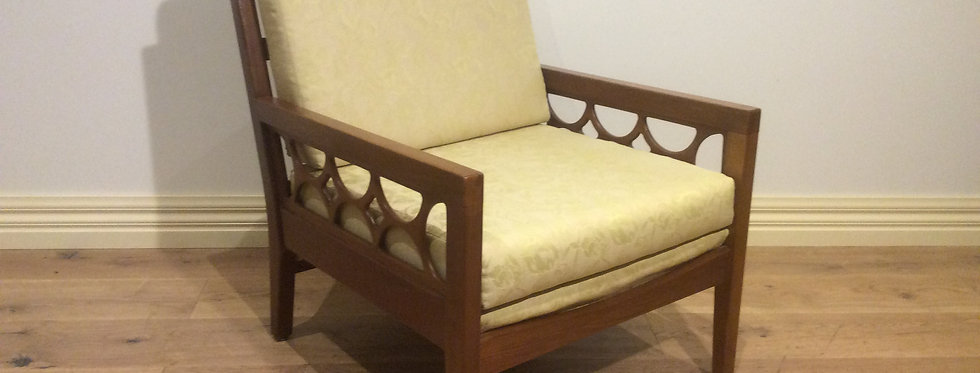 Mid Century Solid Blackwood Avalon Arm Chair