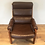 Mid Century Danish Designed Full Leather Armchair