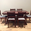 Regency Style Mahogany Extension Dining Table and Chairs