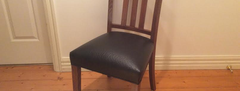 Jimmy Possum Ravenswood Ostrich Leather Dining Chair