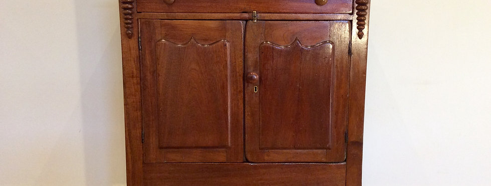 Victorian Cedar Meat Safe with Shield Panel Doors and Top Drawer.