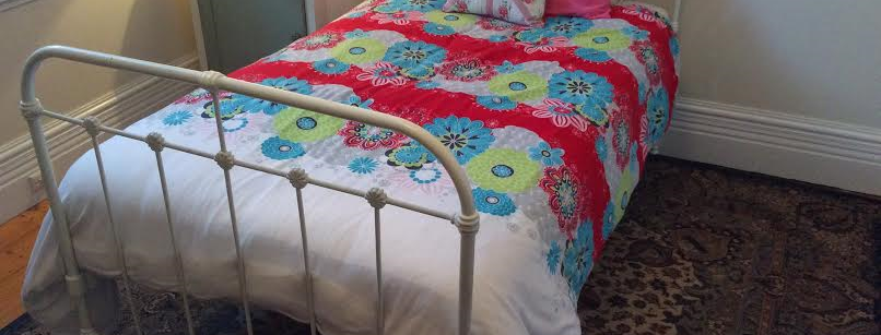 Victorian Antique Cast Iron King Single Bed