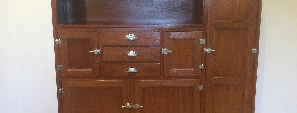 Contemporized Antique Cedar Kitchen Hutch Cabinet