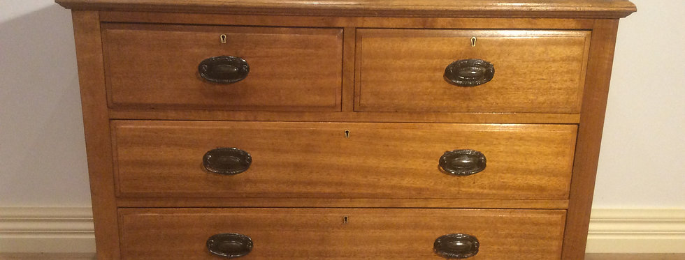 Edwardian Golden Oak Chest of Drawers
