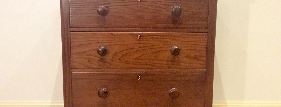 Rare Colonial Red Pine and Cedar Chest with Irregular Grain
