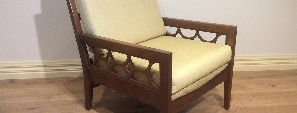 Mid Century Solid Blackwood Avalon Arm Chair